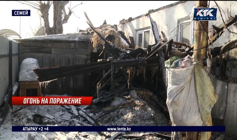 Многоквартирный дом полностью сгорел в Семее – есть жертвы