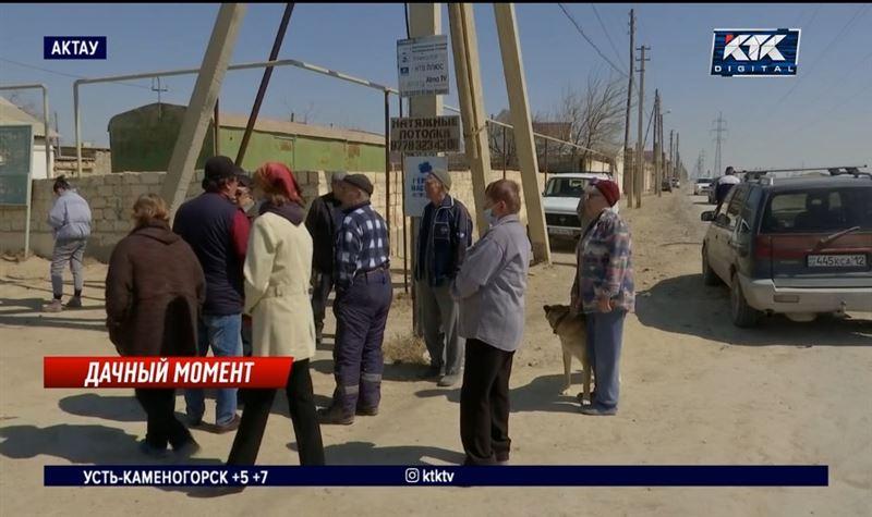 Дачники пригорода Актау боятся остаться без поливной воды