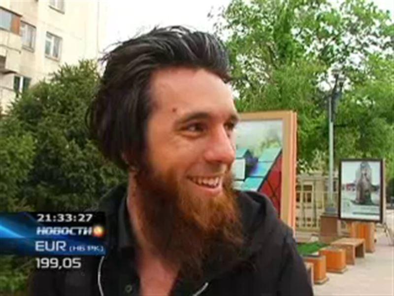 В Алматы пешком добрался 32-летний француз