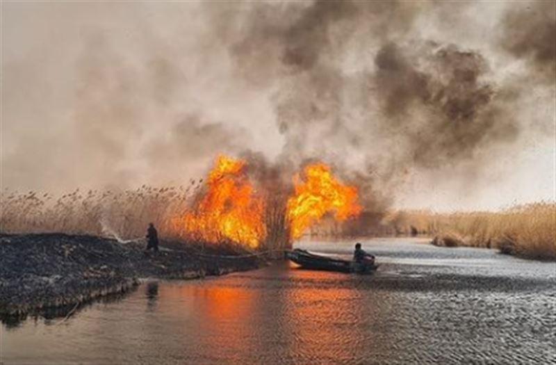 Несколько пожаров произошло около озера Балхаш