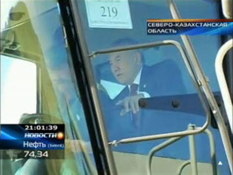 Нурсултан Назарбаев с рабочим визитом побывал в Северо-Казахстанской области