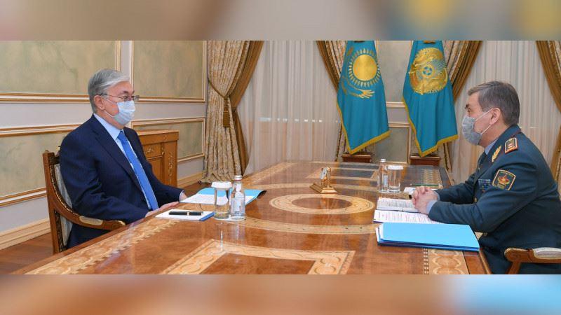 Президент Қорғаныс министрі Нұрлан Ермекбаевты қабылдады