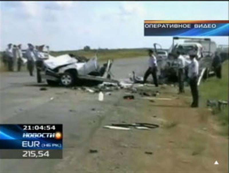 Крупная автокатастрофа в Павлодарской области