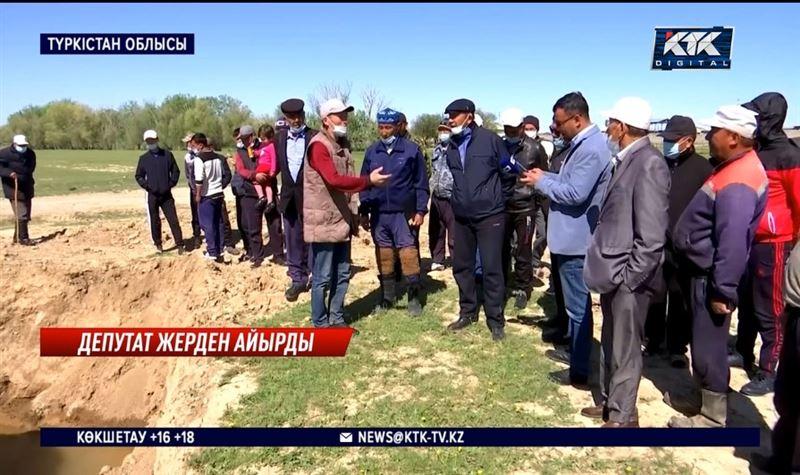 Депутат Бәйдібектегі мал жайылымын меншіктеп алған – Түркістан облысы