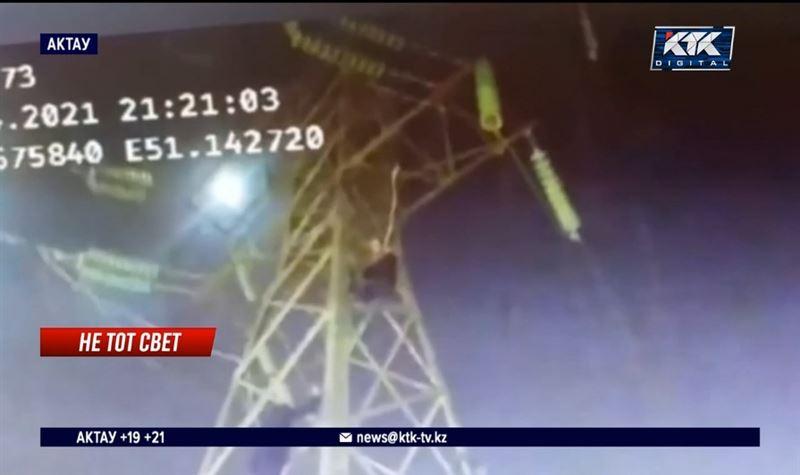 Житель Актау пытался повеситься на опоре линии электропередачи