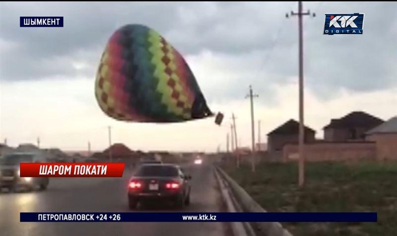 Четыре шымкентских микрорайона остались без света из-за воздушного шара