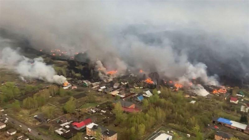 Крупный пожар в ВКО обещают потушить к вечеру 11 мая