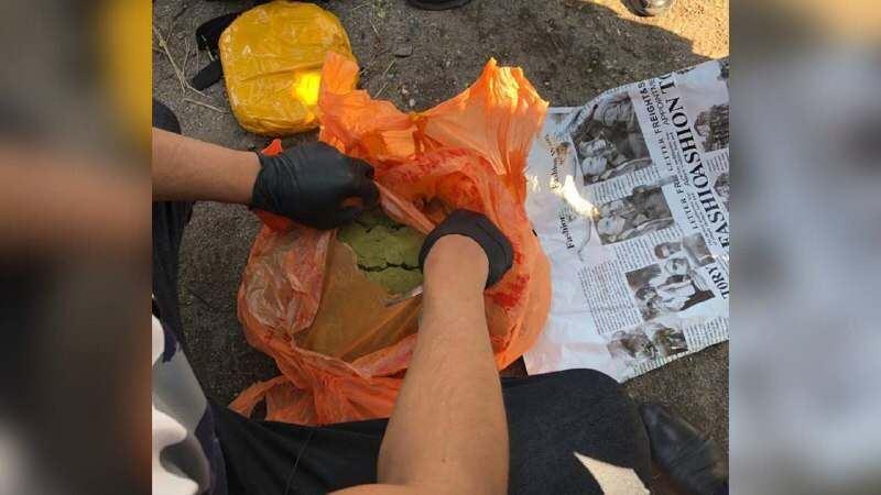У наркокурьера изъяли 7 кг гашиша в Караганде