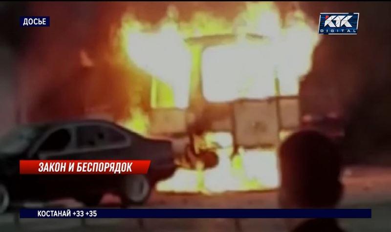 Участникам массовых беспорядков в Сатпаеве вынесли приговор