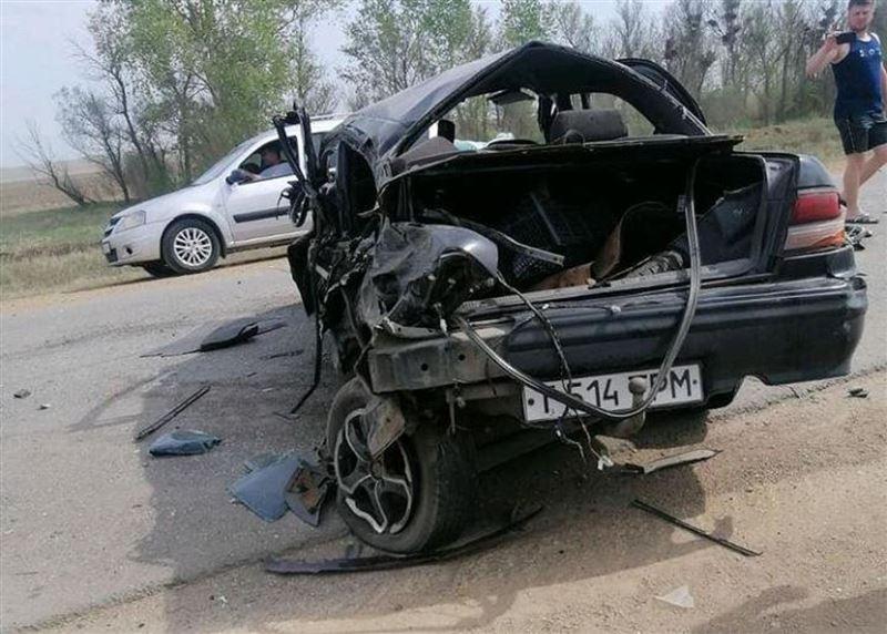 Жуткая авария с участием трех авто произошла под Нур-Султаном