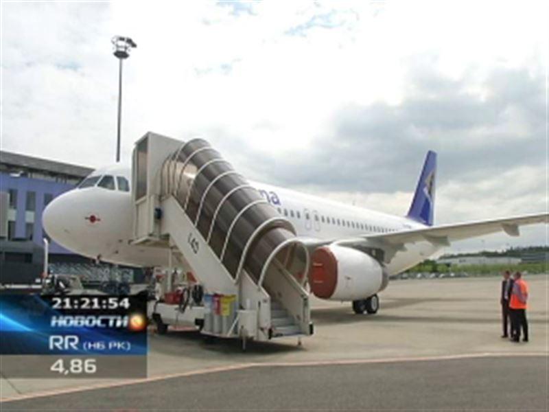"""В Казахстане появился новый реактивный самолет с """"акульими плавниками"""""""