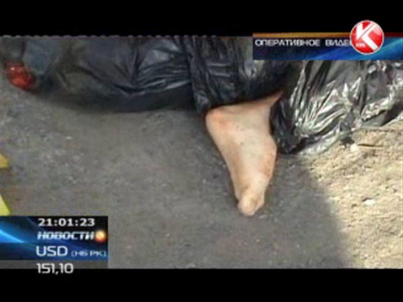 Алматинец нашёл в мусорном контейнере отрубленные человеческие ноги