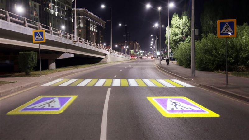 Еще один проекционный пешеходный переход появился в Нур-Султане