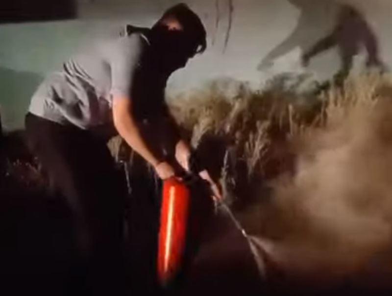 Полицейский помог потушить пожар на зоне отдыха в Алматинской области