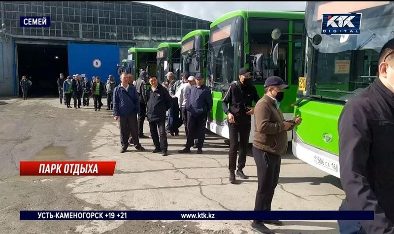 Водители и кондукторы крупнейшего автопарка Семея опять бастуют