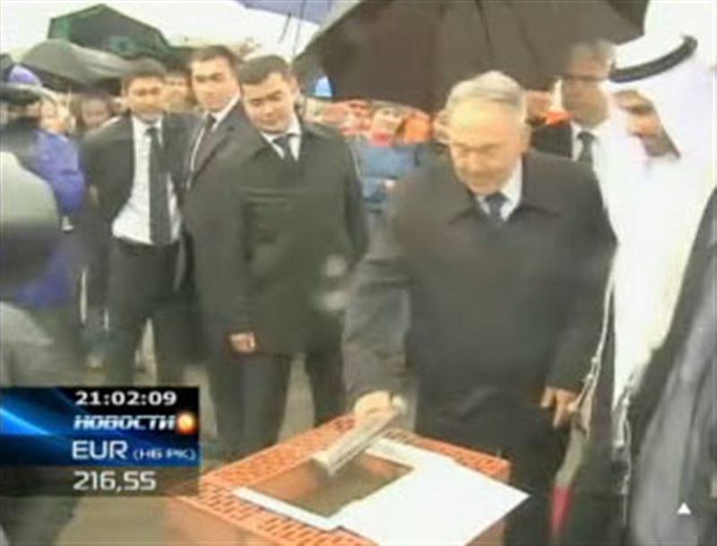 Сегодня в Астане Президент заложил капсулу в основание самого высокого и дорогостоящего здания Казахстана