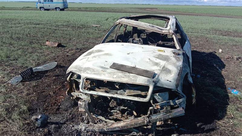Угнанная в Петропавловске машина была найдена сгоревшей