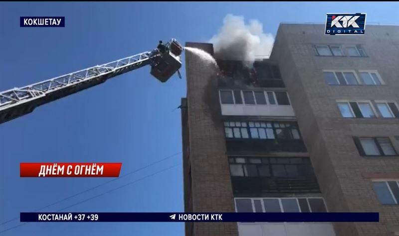 Взрыва газовых баллонов удалось избежать во время пожара в Кокшетау