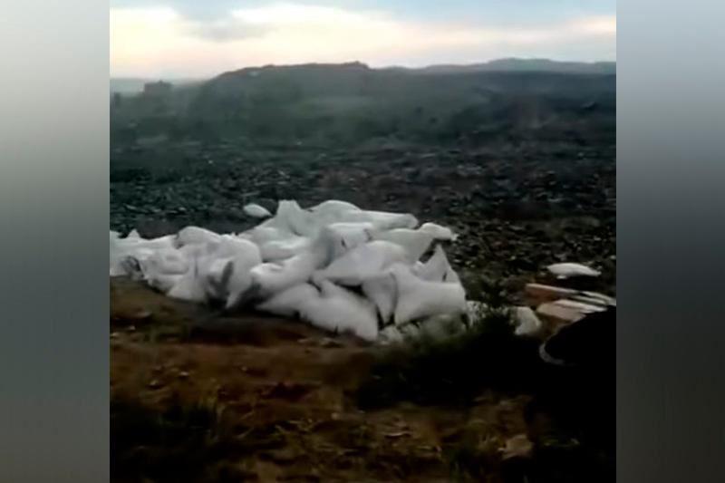 Мешки со взрывчаткой обнаружены рядом с трассой в Восточном Казахстане