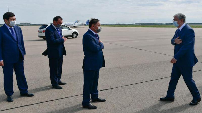 Президент прибыл с рабочей поездкой в Акмолинскую область