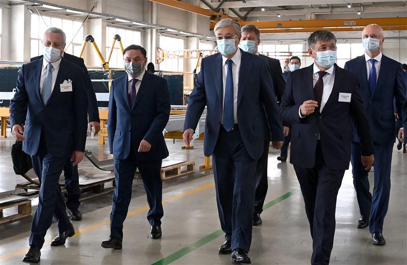 Касым-Жомарт Токаев посетил компанию KazRost Engineering Ltd.