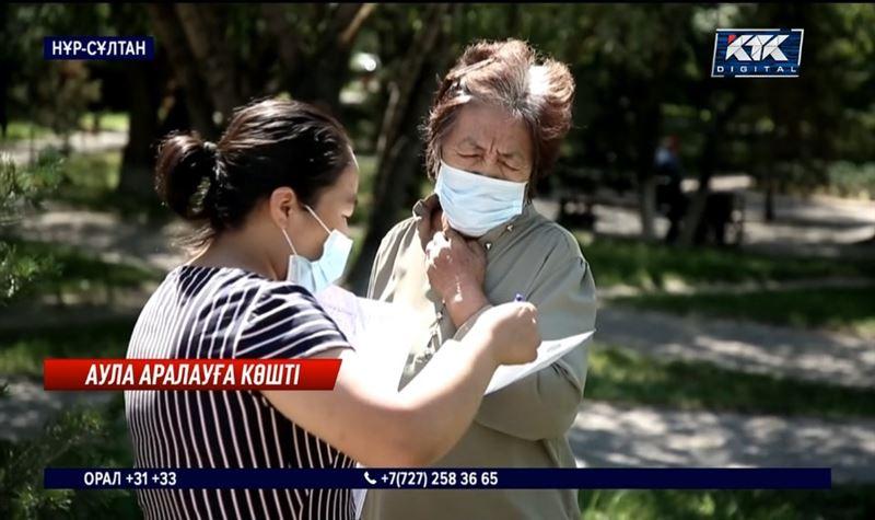 Вакциналаудың маңызын түсіндіру үшін көше аралауға шықты