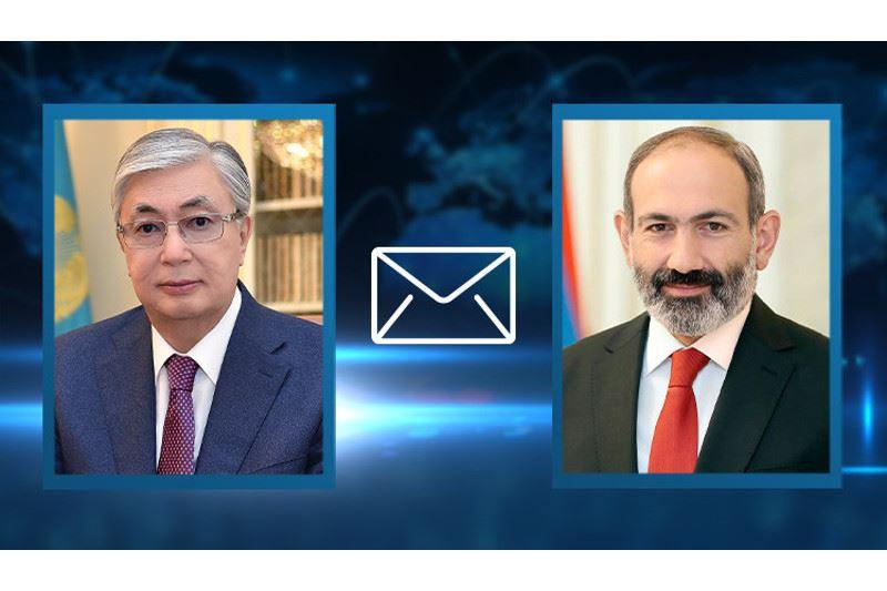 ҚР Президенті Никол Пашинянды Армения Премьері лауазымына тағайындалуымен құттықтады