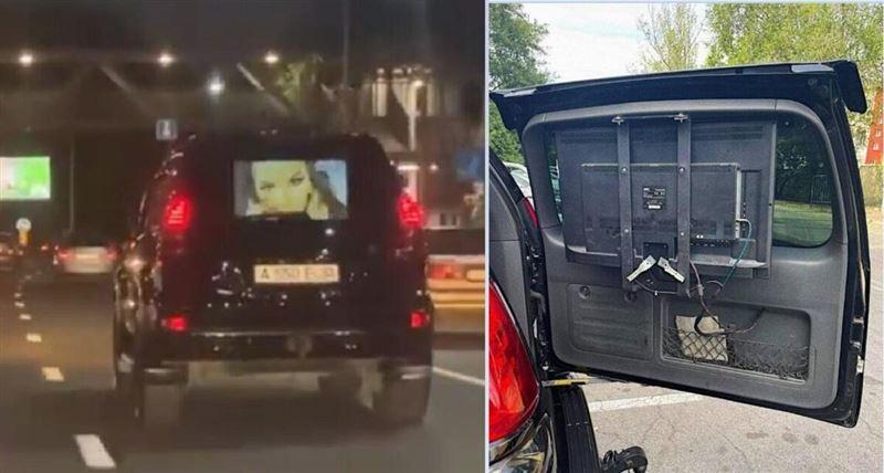 Алматыда көлік жүргізушісі жол бойы ұятсыз видео көрсеткен