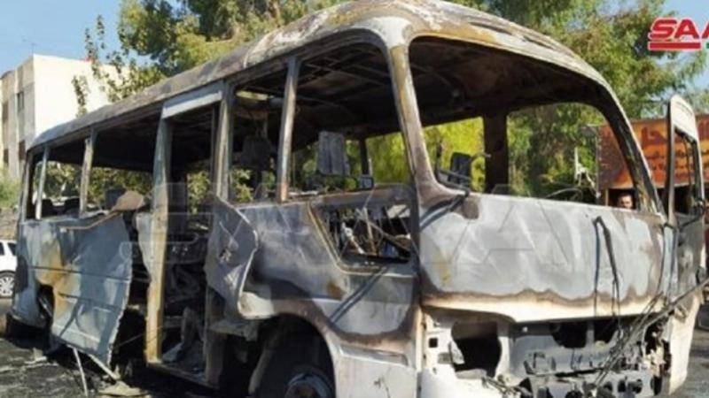 Әскерилер мінген автобус жарылып кетті