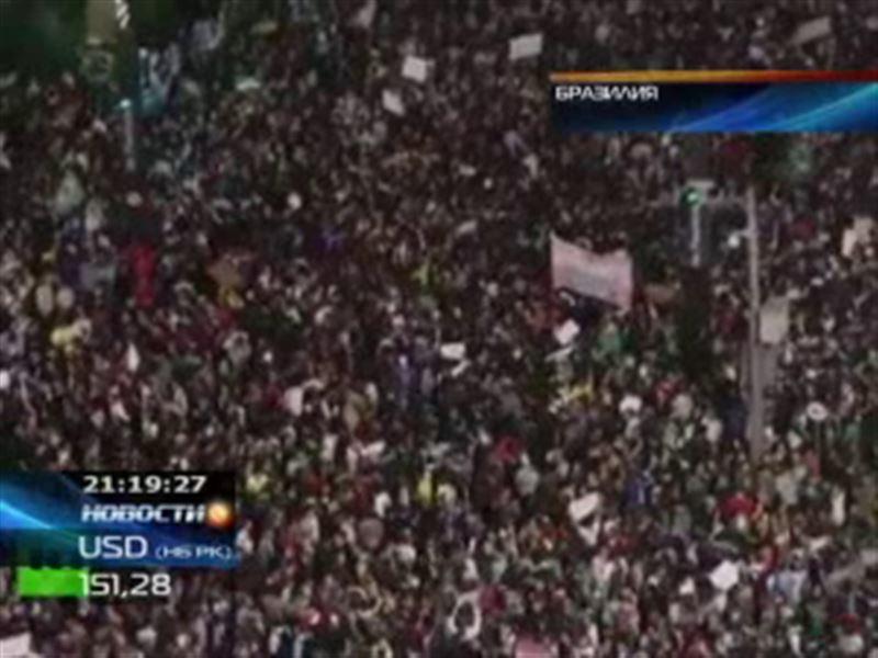 В Бразилии не прекращаются акции протеста против проведения чемпионата мира по футболу