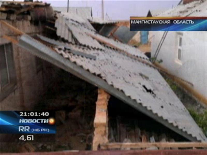 Крыши снесло: ураган в Мангистауской области