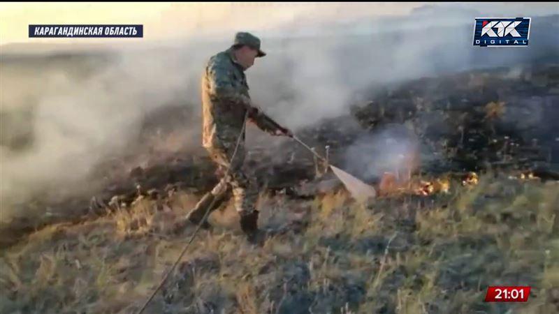Большие новости - Степные пожары в Карагандинской области: один человек погиб