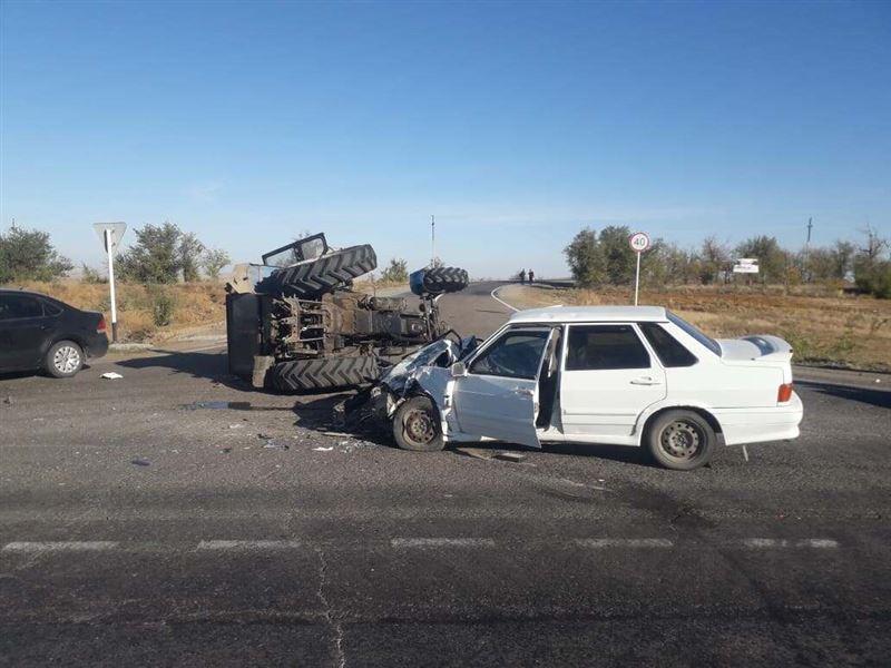 Пьяный тракторист совершил ДТП в Актюбинской области