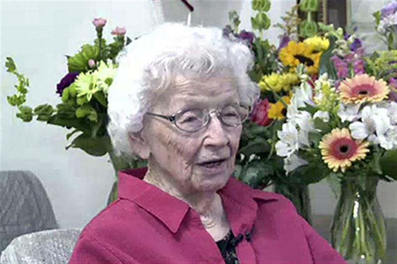 107-летняя женщина дала совет желающим прожить долго