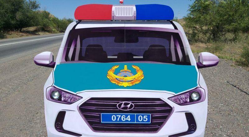 «Полицейскую машину» украли в ЗКО
