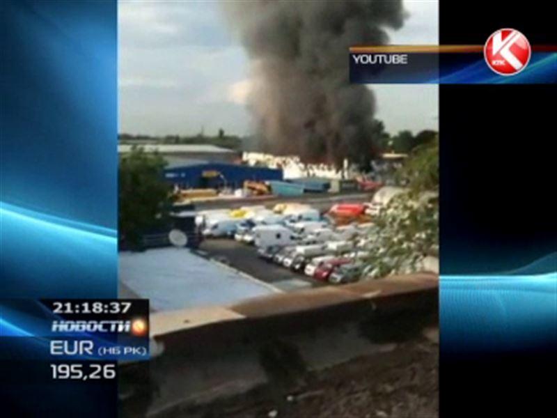 В Алматы сгорели склады с сигаретами