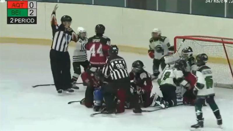 Массовая драка 11-летних хоккеистов попала на видео