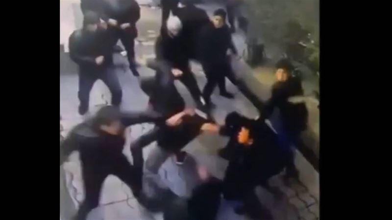 Массовая драка в Таразе попала на видео
