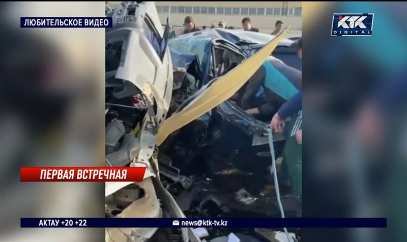 Трое остаются в критическом состоянии после ДТП близ Актау