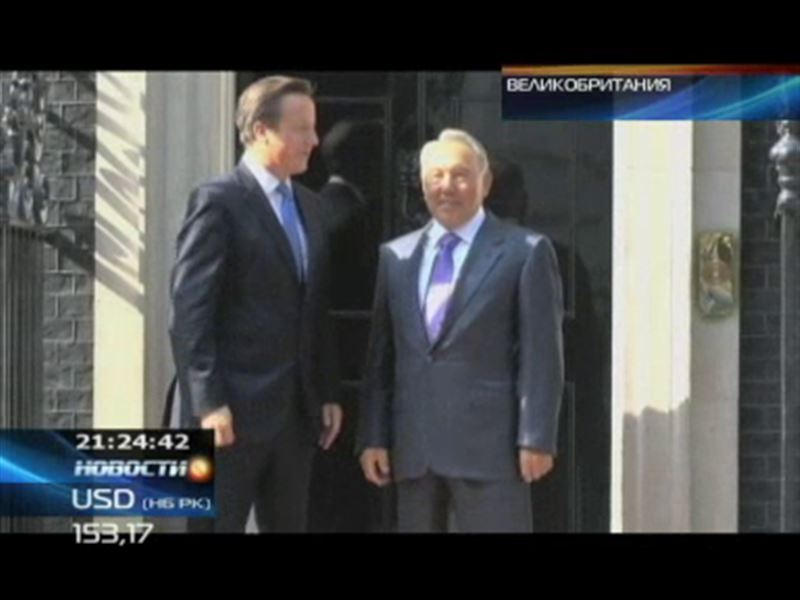 Президент Казахстана, который сейчас в официальном отпуске, оказался в гостях у Дэвида Кэмерона