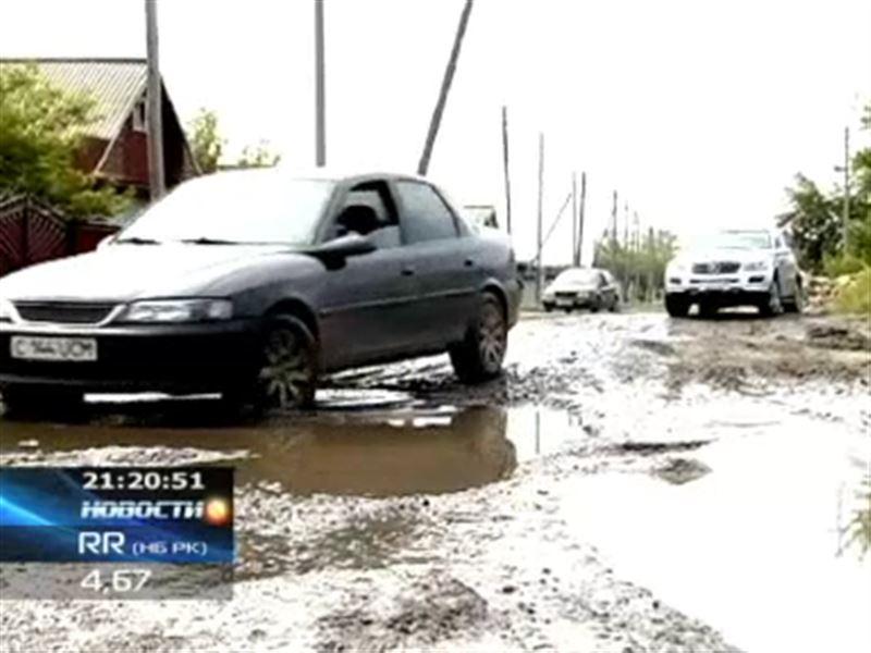 Жители Щучинска утверждают, что из-за разбитых дорог их жизнь превратилась в сплошной кошмар