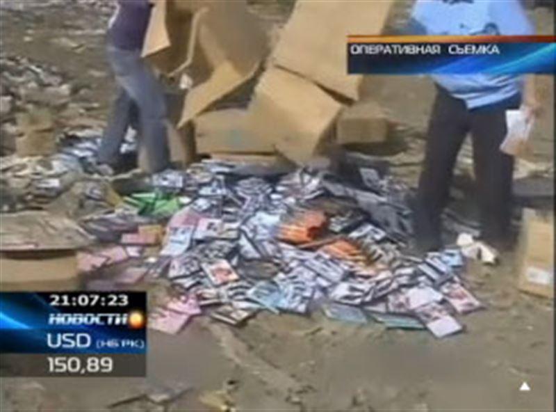 Почти 22 миллиона тенге сегодня раздавили и сожгли сотрудники финансовой полиции Южного Казахстана