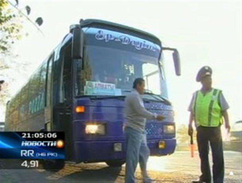 Доехать до Шымкента и выжить: дорожных полицейских шокировали результаты проверки междугородных автобусов в Южном Казахстане