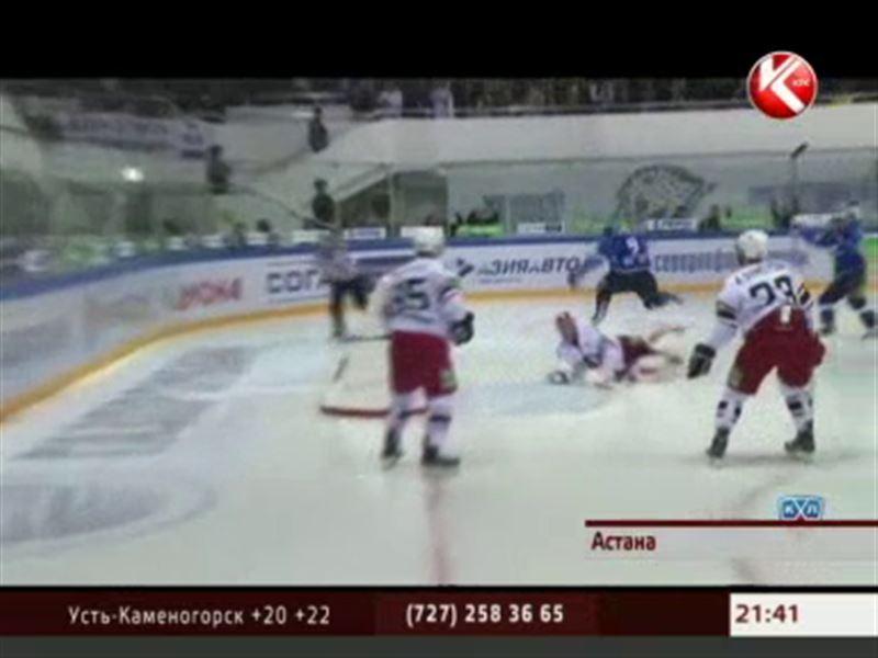 Столичный «Барыс» одержал шестую победу в семи матчах на чемпионате КХЛ