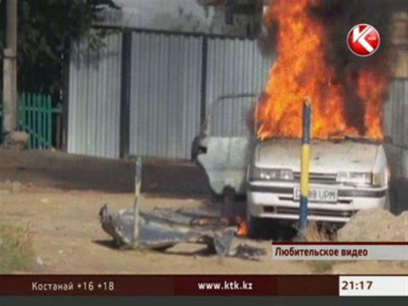 В Актобе водитель иномарки чуть не взорвался в собственном автомобиле