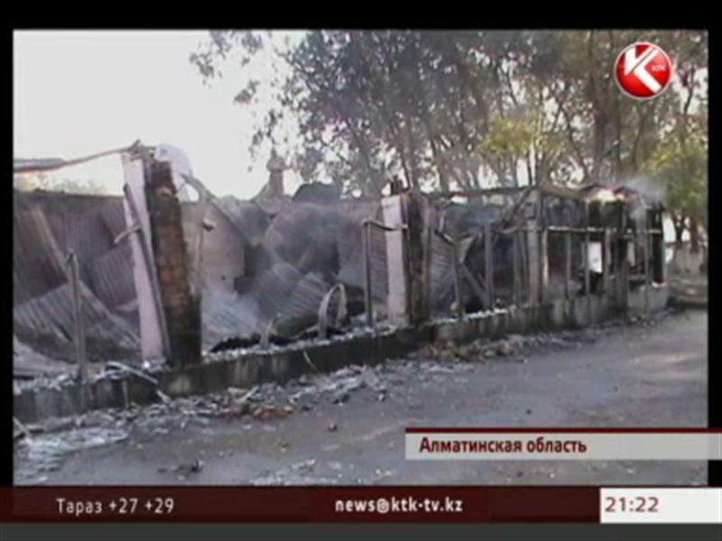 В Алматинской области горела воинская часть