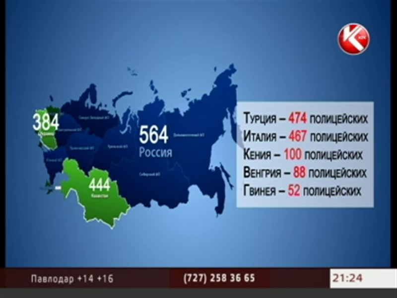 В Казахстане полицейских больше, чем в Украине