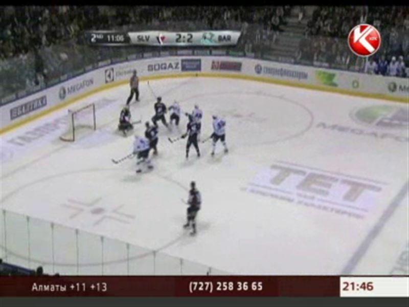Астанинский «Барыс» обыграл «Слован» из Братиславы в рамках чемпионата КХЛ