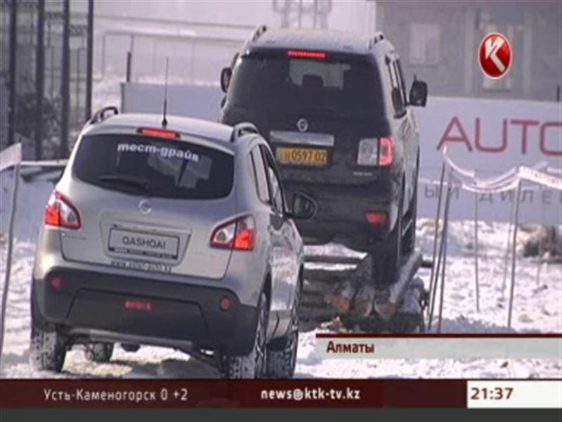 Уникальная трасса с препятствиями появилась в Алматы рядом с автоцентром «Нисcан»