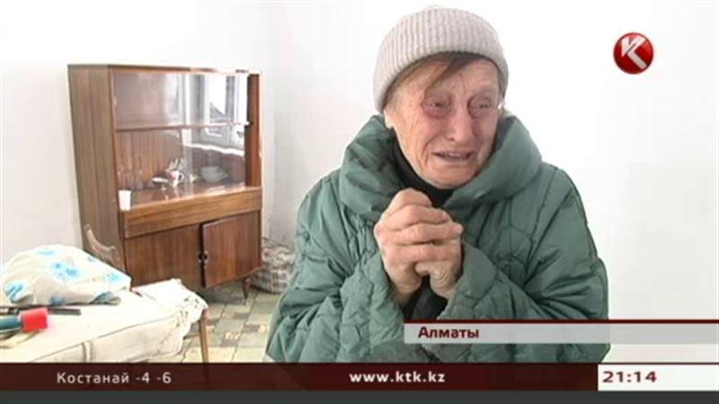В Алматы одинокая бабушка едва выживает в жутком холоде